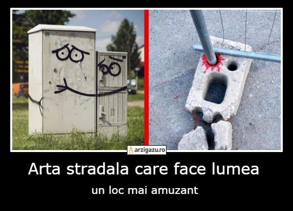 Arta stradala care face lumea un loc mai amuzant