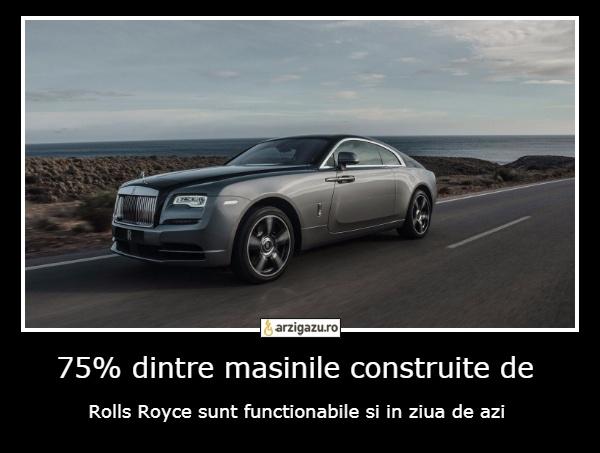 75% dintre masinile construite de Rolls Royce sunt functionabile si in ziua de azi