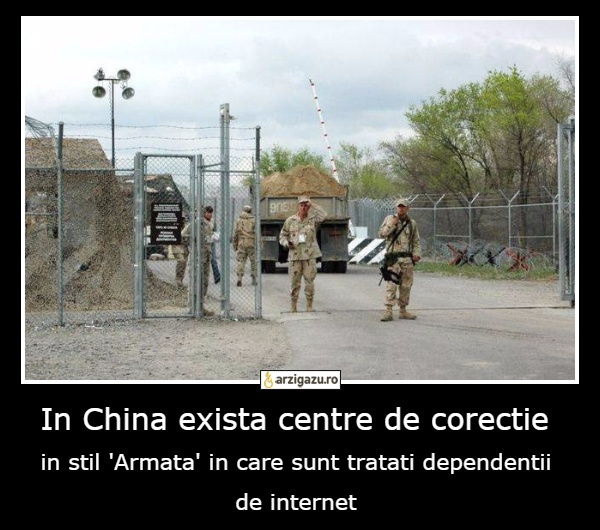 In China exista centre de corectie in stil 'Armata' in care sunt tratati dependentii de internet