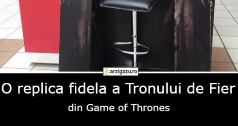 O replica fidela a Tronului de Fier din Game of Thrones