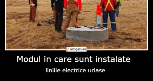 Modul in care sunt instalate  liniile electrice uriase