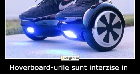 Hoverboard-urile sunt interzise in New York incepand cu anul 2015