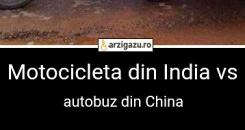 Motocicleta din India vs autobuz din China