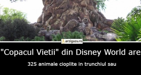 """Copacul Vietii"" din Disney World are  325 animale cioplite in trunchiul sau"